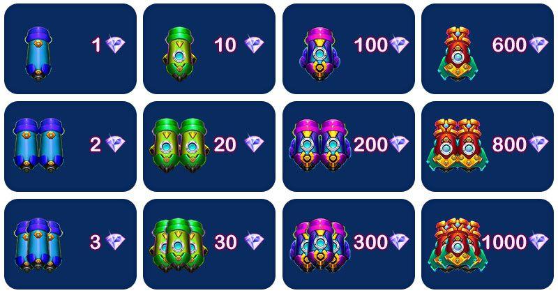 Hệ thống súng trong game bắn cá 1000